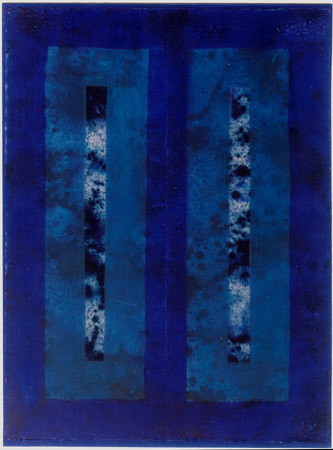Michael Kravagna - Acrylic and oil on papier on canvas, 106x78, 1994