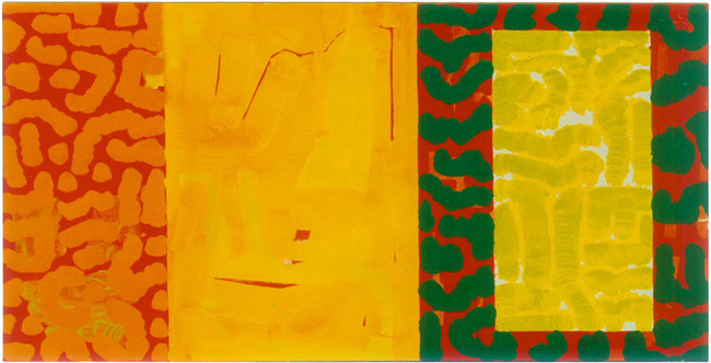 Michael Kravagna - Acrylic on canvas, 70x140, 1993